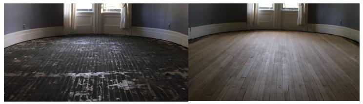 Wood Floor Refinishing Buffing Coating Installation